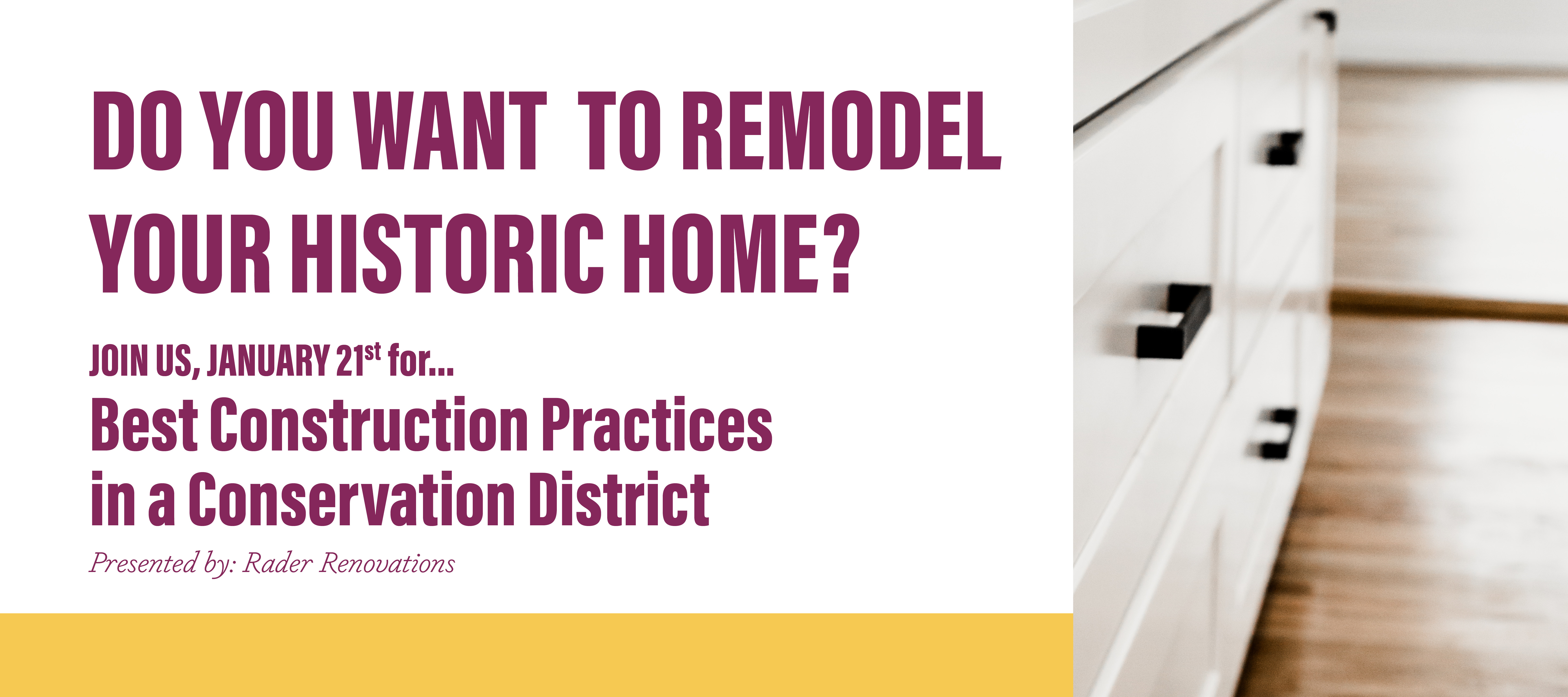 Ready to begin your Oak Cliff historic home renovation? We have a panel of experts ready to share their expertise with you on January 21st 2020!